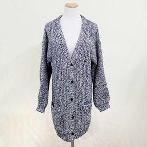 Cabi 3663 Embrace Cardigan long gray rainbow knit